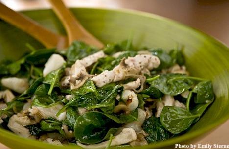 Warm Chicken Breast Spinach Salad