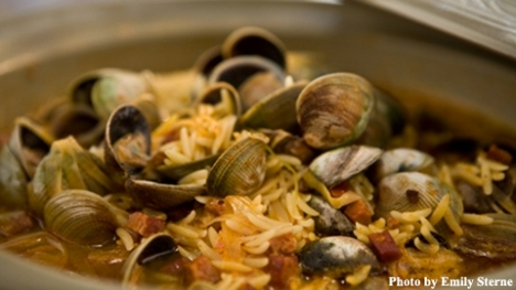 Thai Curried Clams and Chorizo