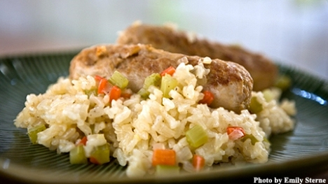turkey sausage pilaf