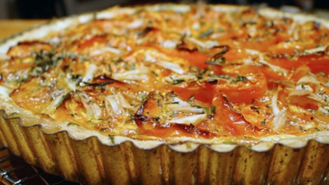 corn and tomato tart