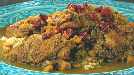 Coconut-Cranberry Chicken Curry